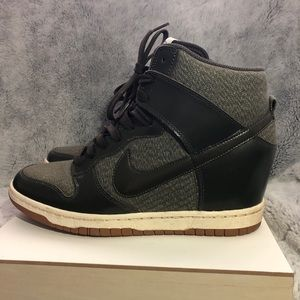 Nike High Top Heeled Sneakers - size 9